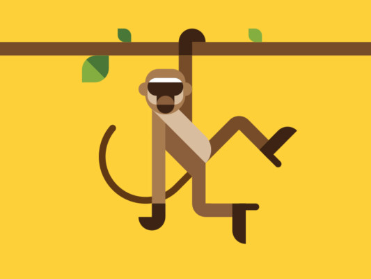 Monkey Logo for Clothing