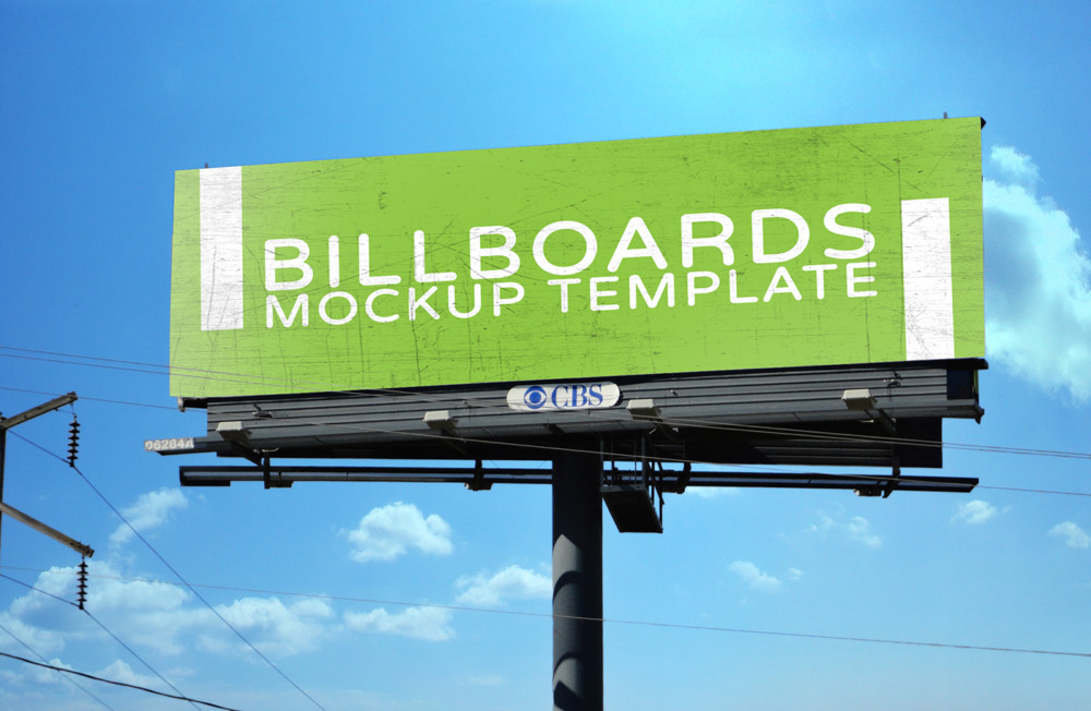 PSD Billboard Mockup Template