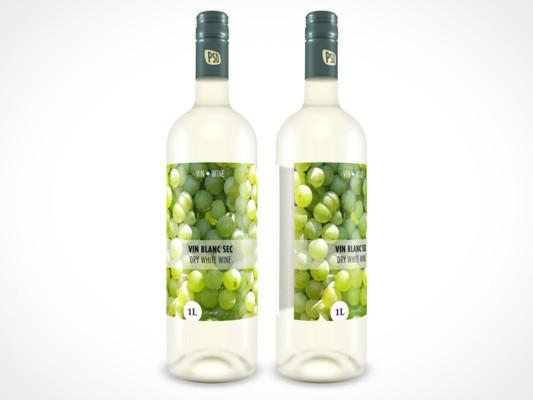 PSD Wine Bottle Mockup, Bottle Mockup