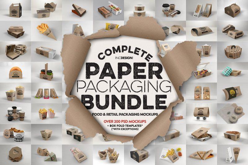 Paper Packaging Mockup PSD Bundle