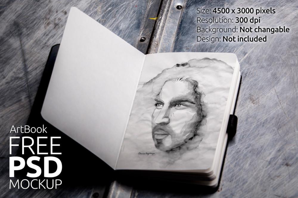 Photo Realistic Art Book Mockup