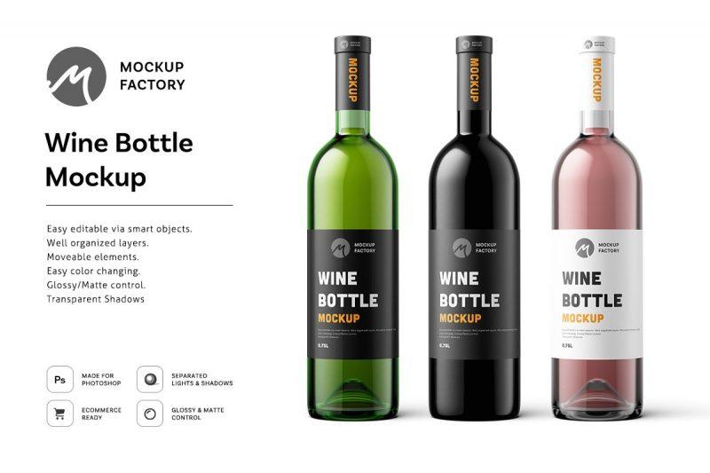 Realistic Wine Branding Presentation