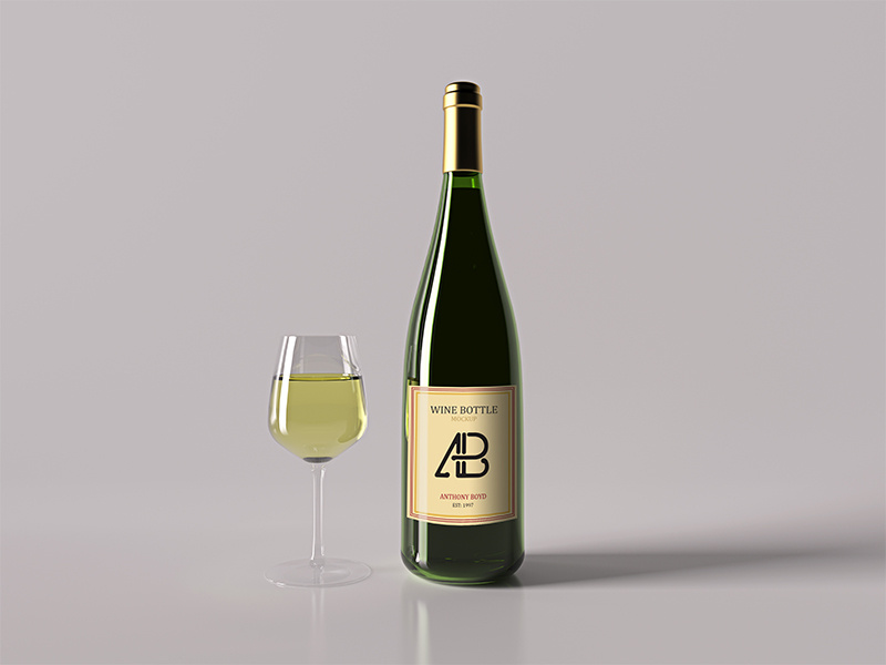 Realistic Wine Label Mockup
