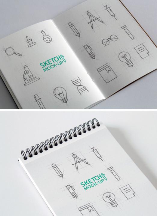Sketchbook Mockup Design