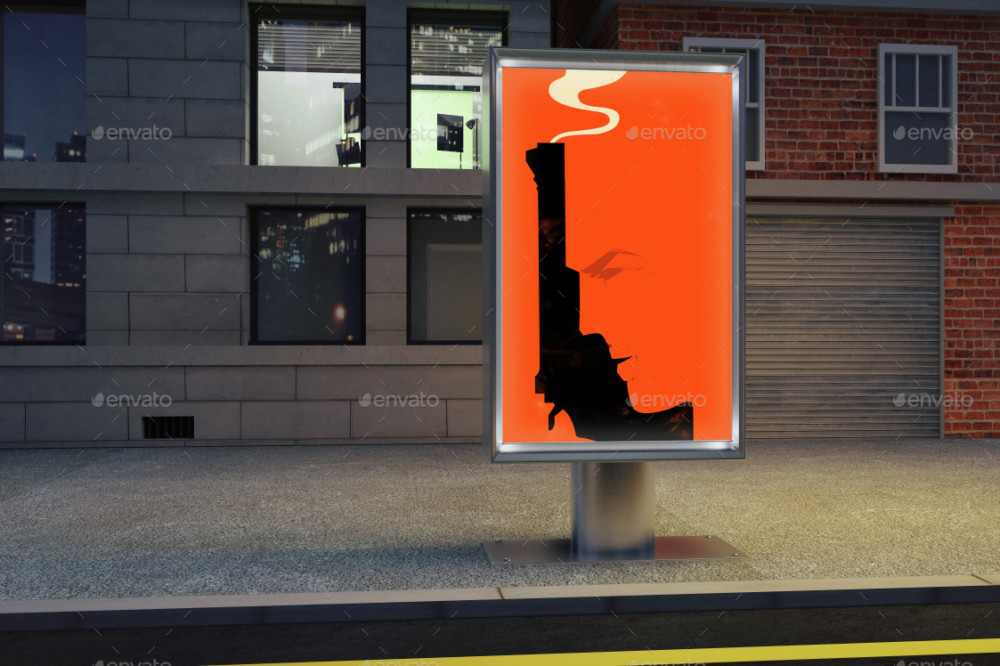 Street Billboard Template