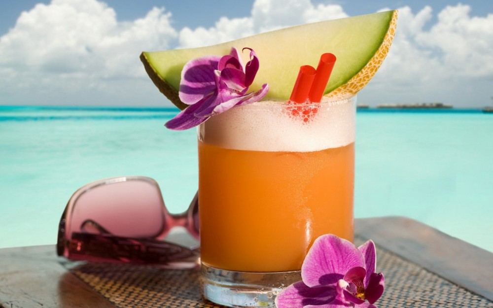 Summer Drinks Background