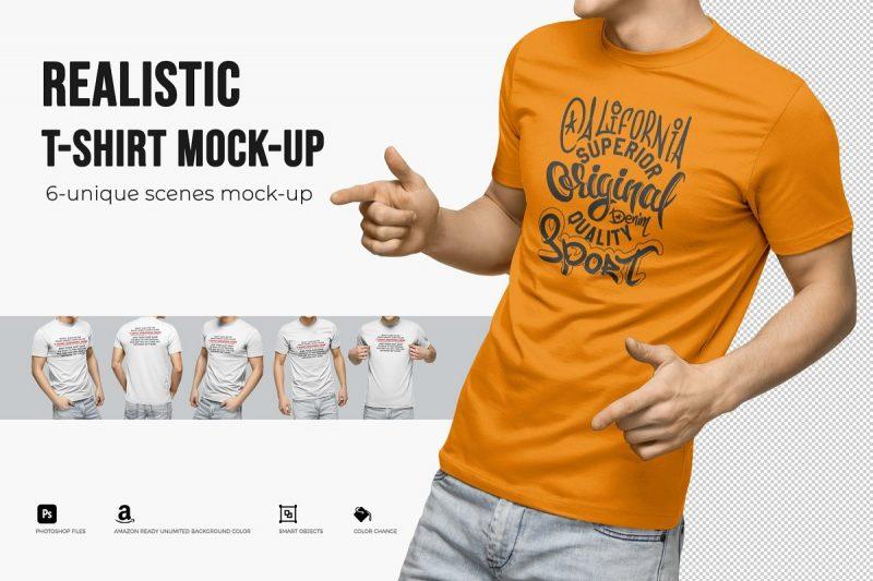Unique Realistic T Shirt Mockups