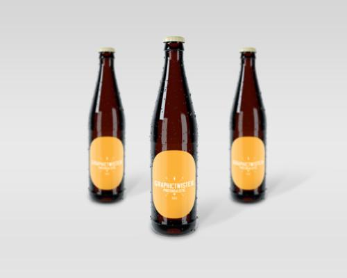 Wine Bottle Label Mockup, Bottle Mockup