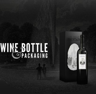 Wine Bottle Packaging Mockup