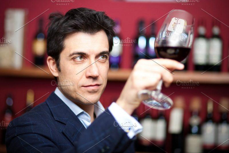 Wine Glass in Hand Mockup PSD