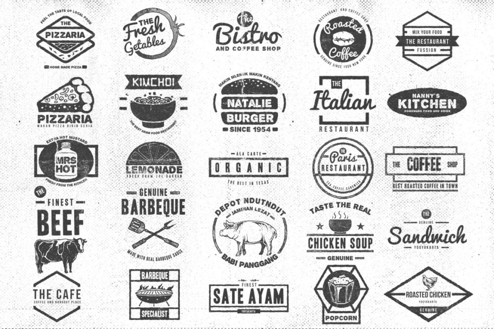 logo burger logo pizza logo juice logo retro vintage logo logo templatetsv creative cofee logo tea logo food and beverage logo seafood logo insignia