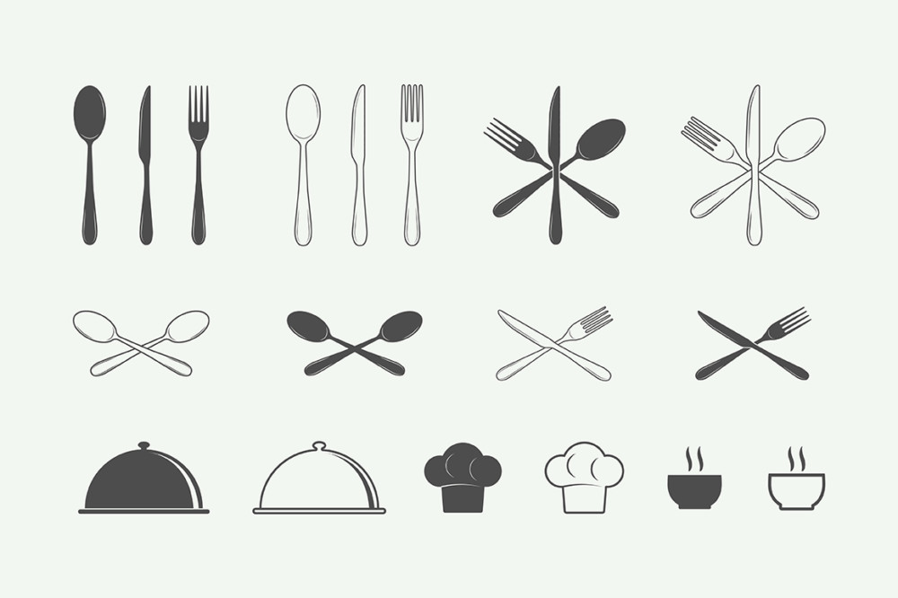 mark, watermark, element, design, vintage, retro, food, court, eat, drink, restaurant, cafe, steak, house, tasty, fresh, meat, fish, fork, spoon, knife, plate, bar, soup, beef, animal, chef, pork, dinner, butcher, set, silhouette, illustration, healthy, cut, boiling, store, ingredient, menu, shop, product