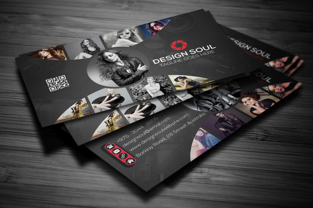 Awesome photography business card designs graphic cloud for Best business cards for photographers