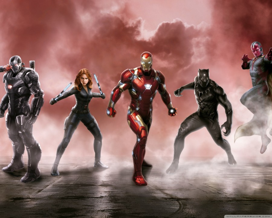 caption america iron man avengers bird man ant-man civil war wallpapers