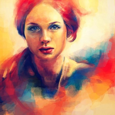 colorful-digital-painting-by-alicezhang beautiful women 8