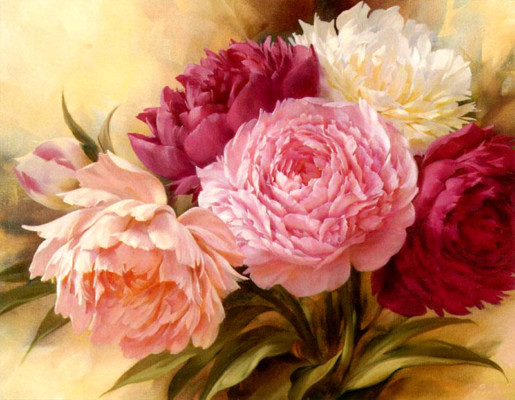 25+ Most beautiful Flower paintings - Graphic Cloud