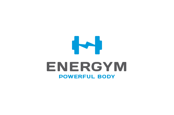 gym-fitness-energy-ray-logo-best gym logo design 2 logotype brand branding corporate identity template software app application