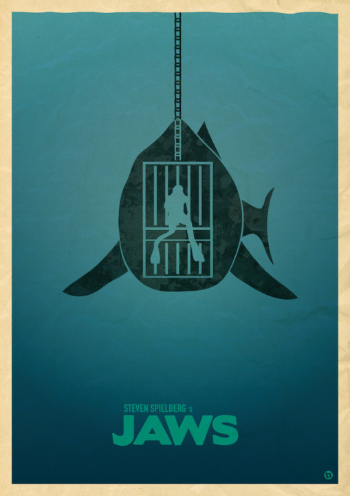 jaws best movie poster blue sea