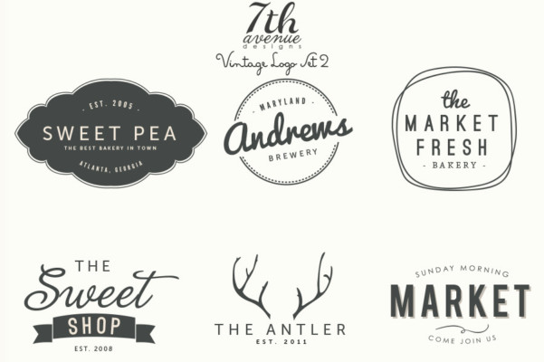 logo, vintage, frame, antler, food logo, market logo, antler logo, bakery logo