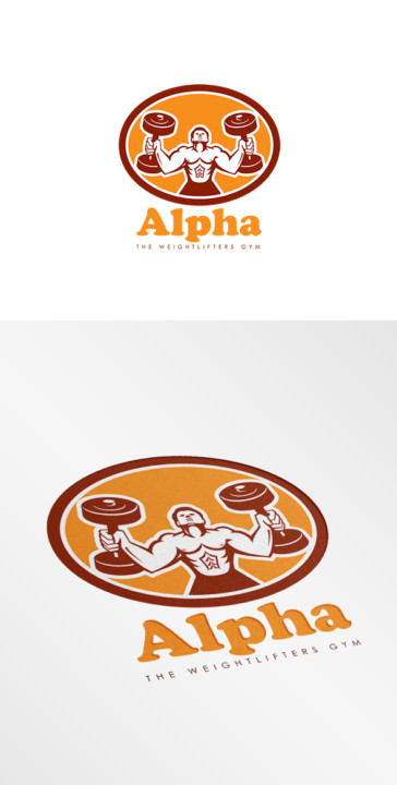 physical fitness, exercise, training liftin muscles male illustration artwork graphics retro circle