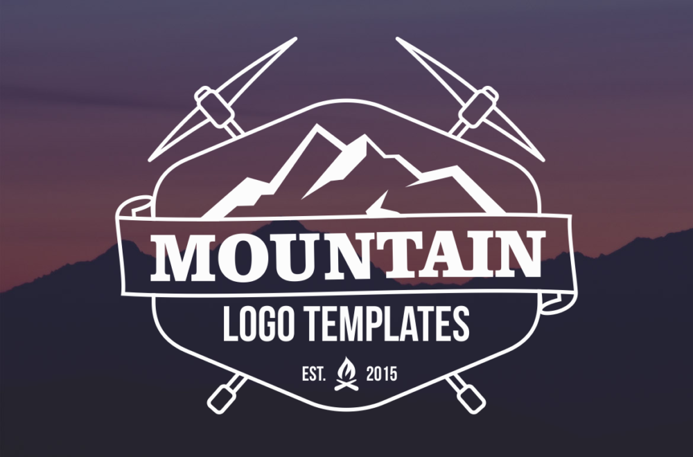 Amazing Mountain Logo Png Ai Design Inspiration Graphic