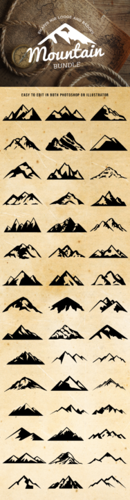 mountain,	mountain shape,	mountains, nature,	outdoors,	peaks,	range,	rock,	set, badge,	retro,	vintage