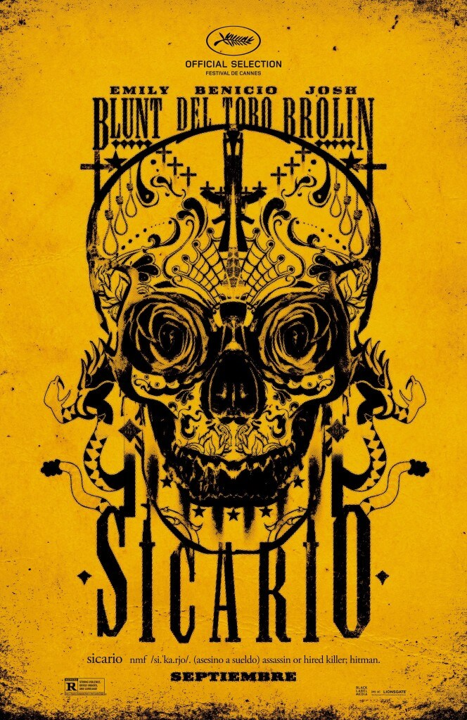 sicario-movie-poster yellow movie background