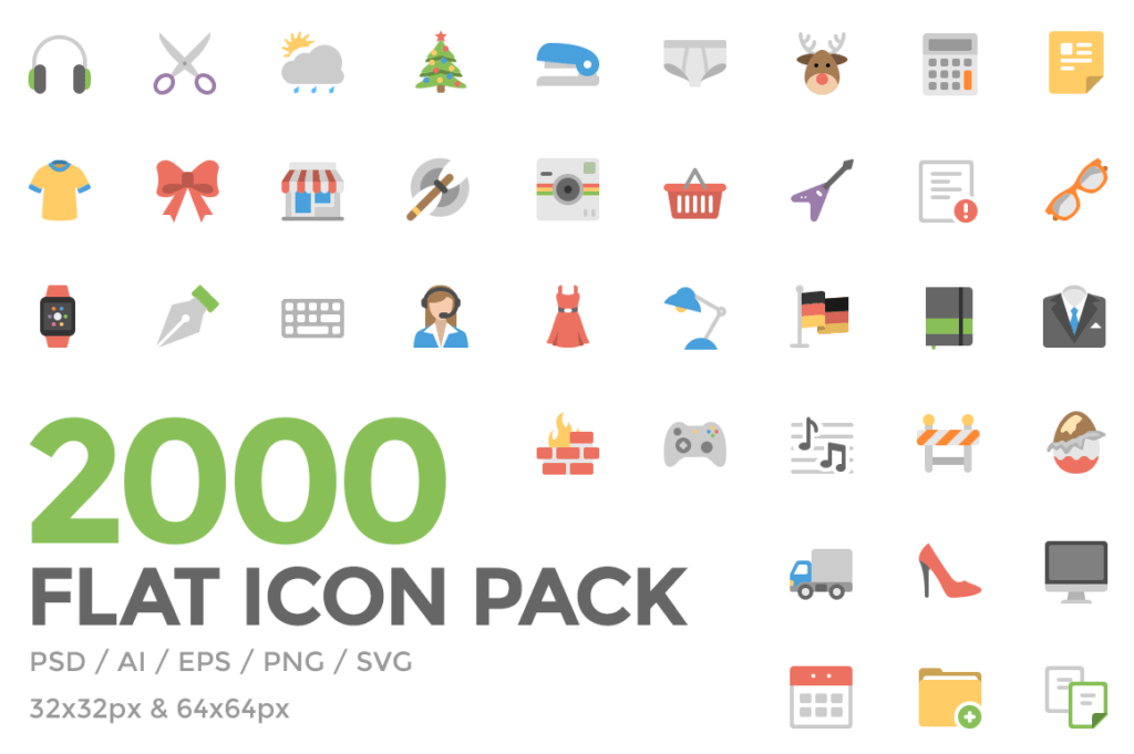 flat,	icons,	png,	psd,	ai,	eps,	svg,	audio, celebration,	holidays,	clothes,	controls, navigation,	device,	gaming,	office, photo,	video,	social,	weather