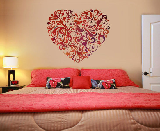 25 beautiful wall art designs and diy wall paintings for Bedroom designs love