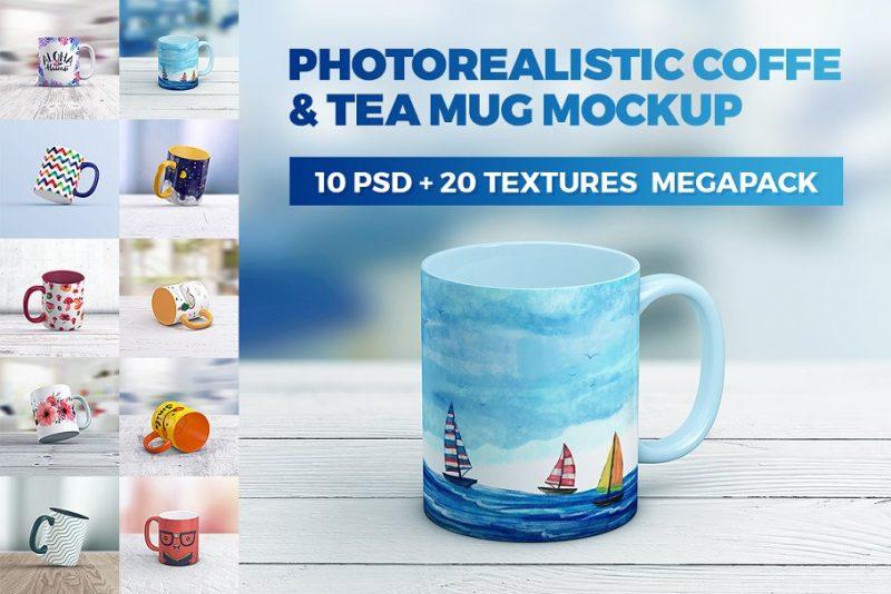 Latte Mug Mockup