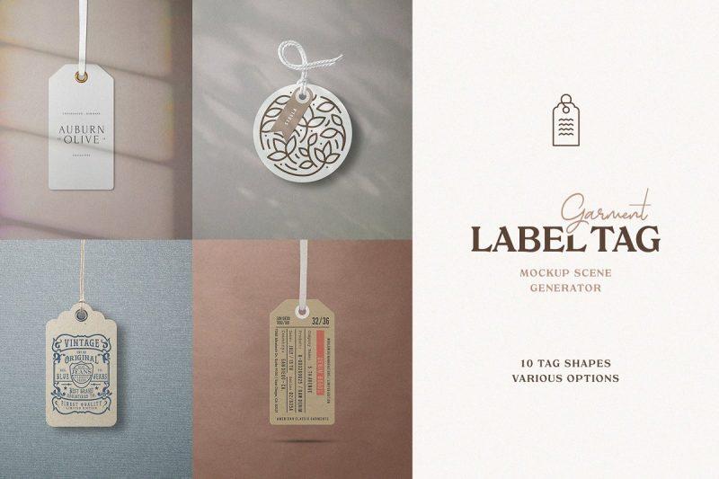 10 Garment Label Tag Mockups
