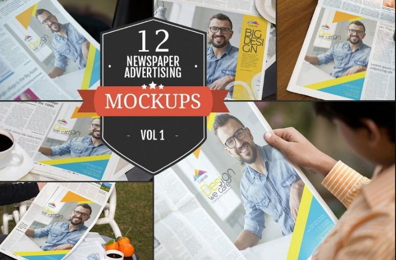 12 Newspaper Ad Mockups