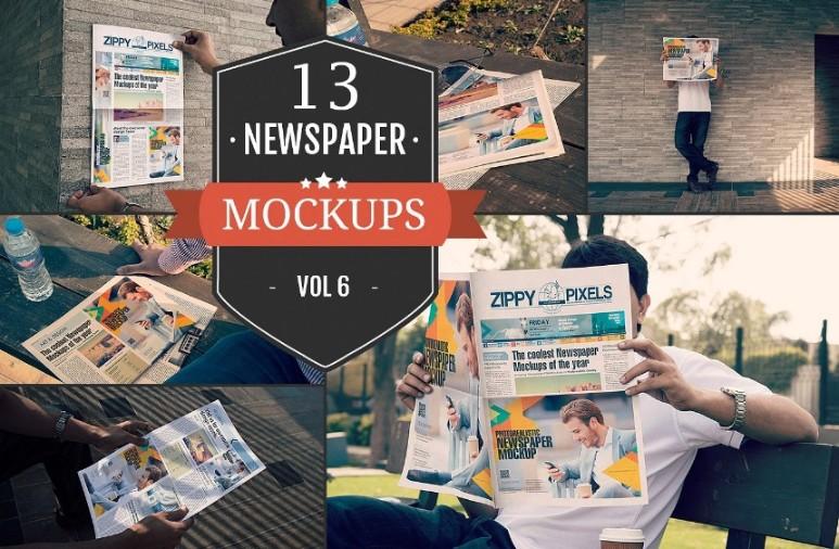 13 Newspapers Mockup Pack