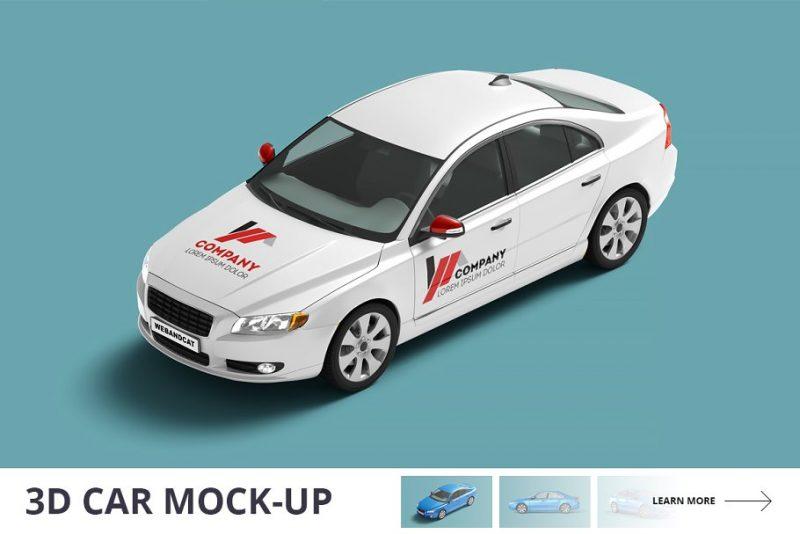 3D Car Mockup