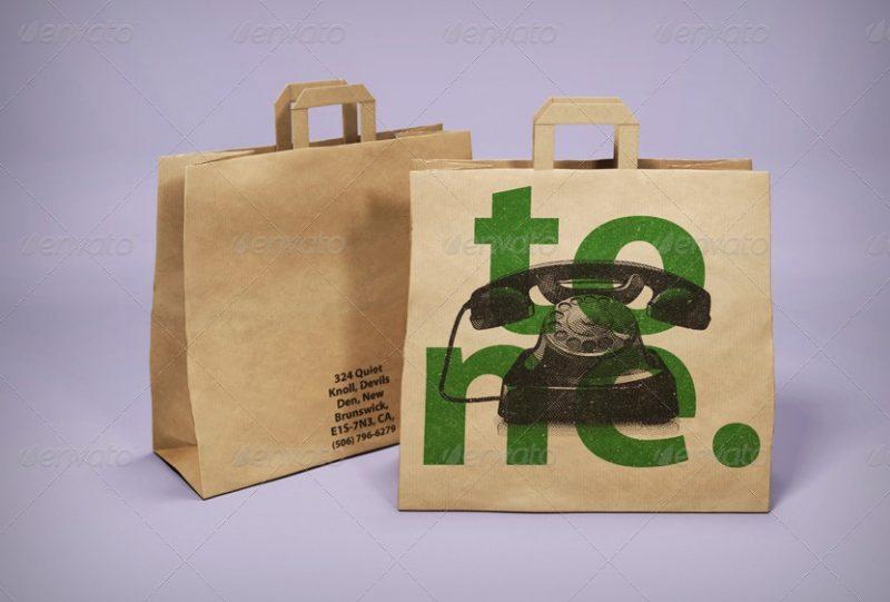 3D Commercial Bag Mockup PSD