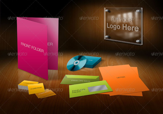 3D Corporate Stationary Mockup