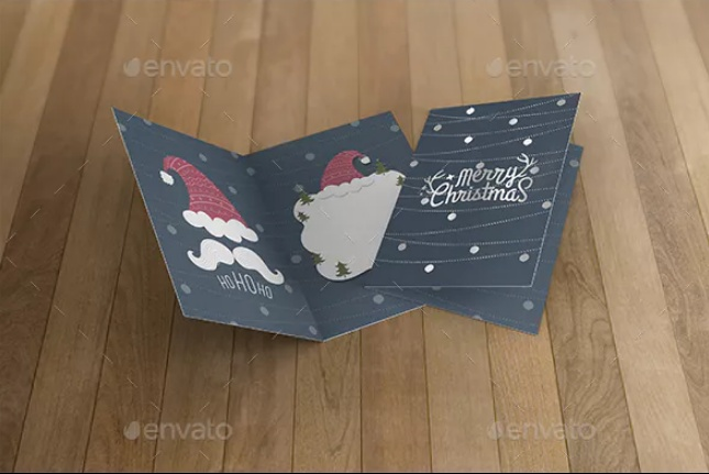 3D Invitation Card Mockup PSD