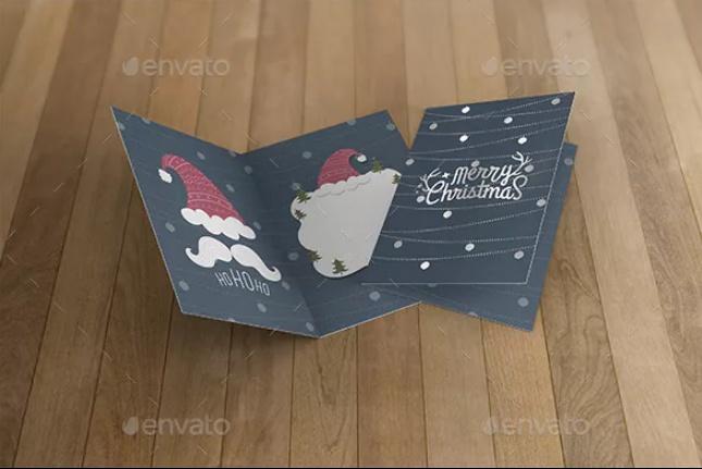 3D Invitation Card Mockup PSD