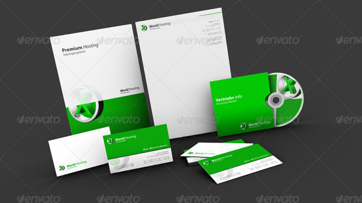 3D PSD Stationary Mockup