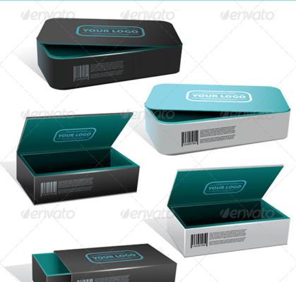 8 Vector Box Packaging Mockup
