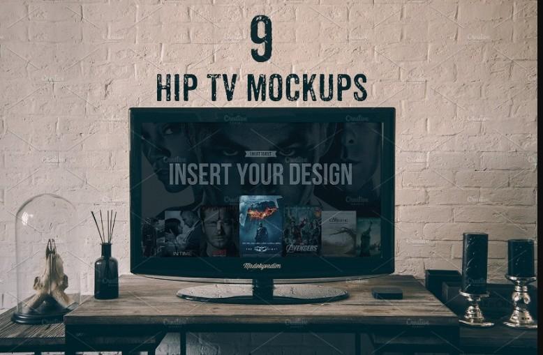 9 TV Mockup PSD