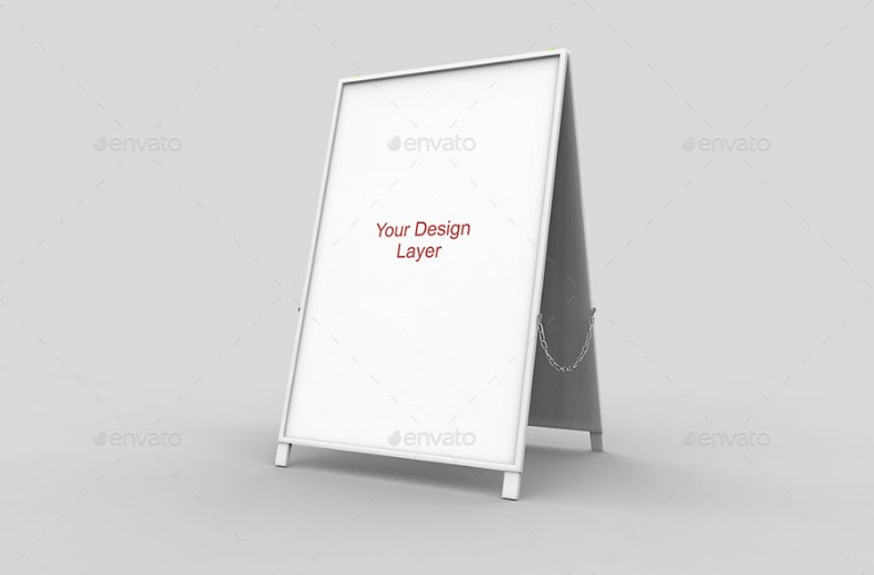 A board Sign Mockup PSD