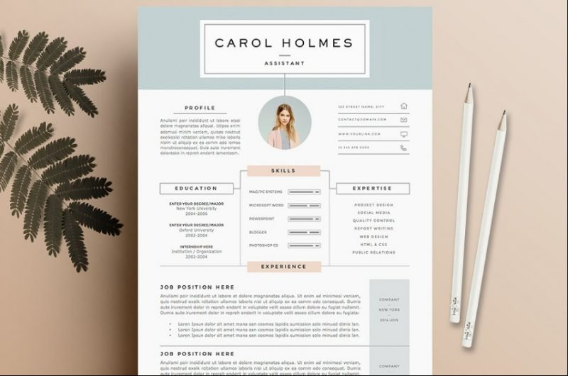 A4 Resume Template PSD