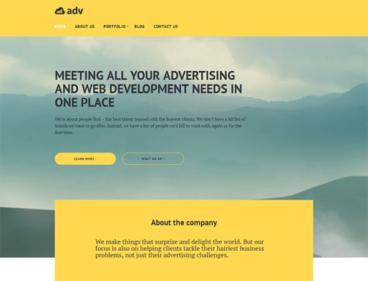 Advertisement Agency WordPress Theme