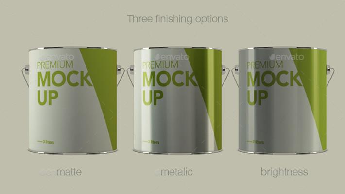 Aluminium Packaging PSD Mockup
