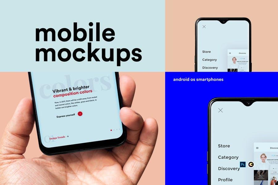 33 Phone Mockup Psd For Ui Ux Presentation 2020 Graphic Cloud
