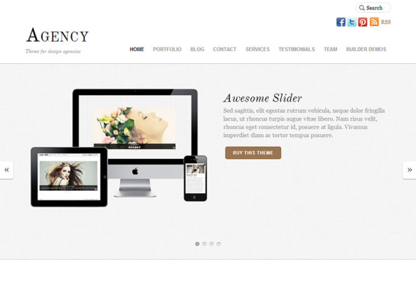 Awesome Agency WordPress Theme