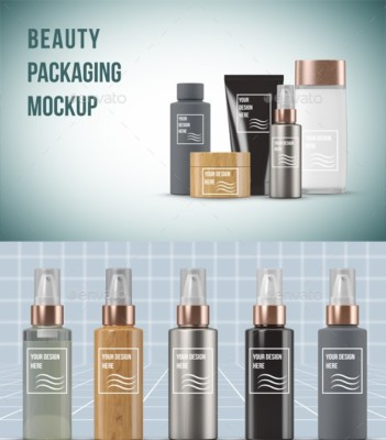 Beauty Products Packaging Mock-up