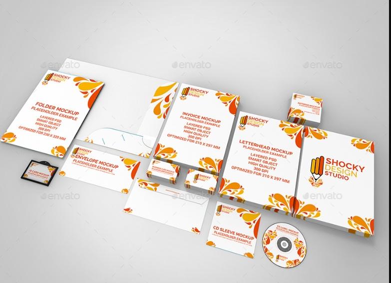 Branding Stationary Mockup PSD