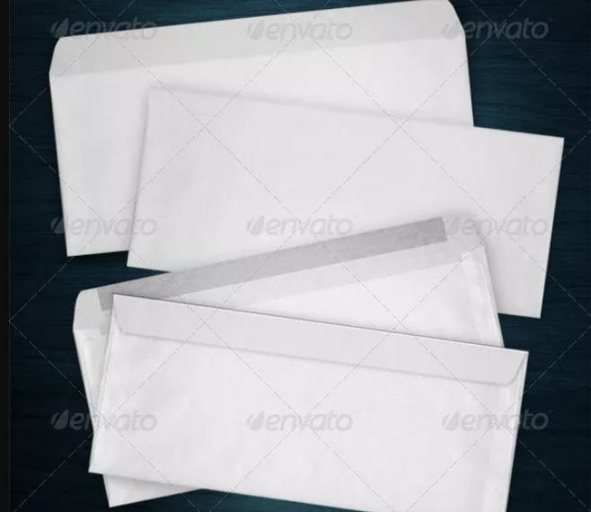 Business Envelope Mockup PSD